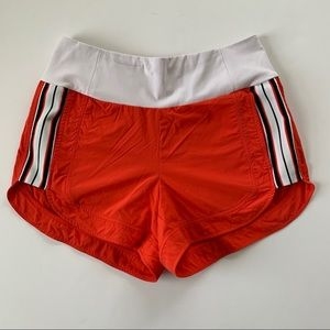 Athleta Orange Ascender Running Shorts